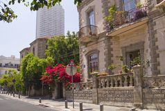 Historical Buiuldings in Tel Aviv.Israel Royalty Free Stock Images
