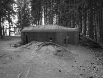 Historical bunkers in a border line around slavonice Stock Images