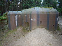 Historical bunkers in a border line around slavonice Royalty Free Stock Image