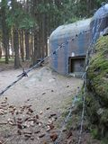 Historical bunkers in a border line around slavonice Royalty Free Stock Photo