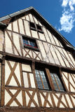 Historical Burgundy timbered house in Dijon, France Royalty Free Stock Photos