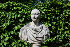 Historical bust in the park Royalty Free Stock Photos