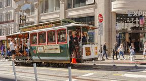 Historical Cable Car with tourists Stock Image