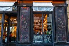 Historical cafe on the Ile Saint Louis, Paris, France Stock Photo