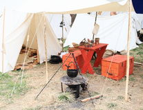 Historical camp Stock Photography