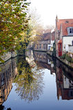 Historical canal in Brugge, Belgium Stock Photo