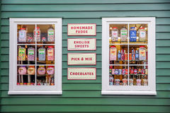 Historical candy shop Royalty Free Stock Photos
