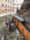 Historical cannon at Bojnice castle, Slovakia royalty free stock image
