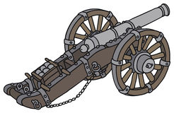 Historical cannon. Hand drawing of a historical cannon Royalty Free Stock Image