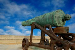 Historical cannon in position Royalty Free Stock Photography