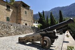 Historical Cannons in Deia Royalty Free Stock Image