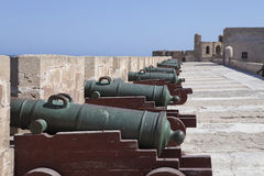 Historical cannons in the fort Essaouira, Morocco Stock Photo