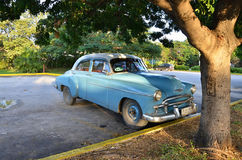 Historical car in the streets of Havana - Cuba Royalty Free Stock Images