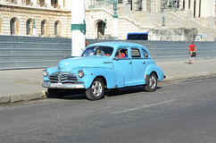 Historical car in the streets of Havana - Cuba Stock Photo