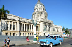 Historical car in the streets of Havana - Cuba Royalty Free Stock Photo