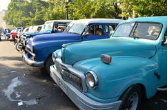 Historical car in the streets of Havana - Cuba Royalty Free Stock Photography