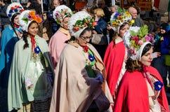 Historical Carnival Pared of Borgo Dora, Turin Italy Stock Photos