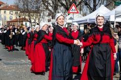 Historical Carnival Pared of Borgo Dora, Turin Italy Stock Image