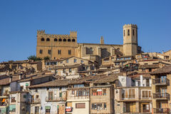 Free Historical Castle And Church On Top Of The Hill In Valderrobres Stock Image - 81070931