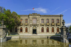 The historical castle - Chapultepec Castle. Mexico City, FEB 17: The historical castle - Chapultepec Castle on FEB 17, 2017 at Mexico City Royalty Free Stock Photo