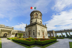 The historical castle - Chapultepec Castle. Mexico City, FEB 17: The historical castle - Chapultepec Castle on FEB 17, 2017 at Mexico City stock photo