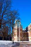 Historical castle of classicism architecture. Historical palace of classicism style architecture (XVIII century) in Moscow Tsaritsino park Stock Photos