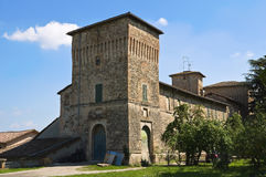 Historical castle of Emilia-Romagna. Italy. Royalty Free Stock Image