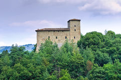 Historical castle of Emilia-Romagna. Italy. Stock Photos