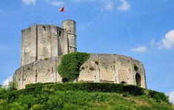 Historical castle of Gisors in Normandie Stock Photography