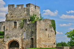 Historical castle of Gisors in Normandie Stock Photos