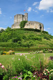Historical castle of Gisors in Normandie Stock Image