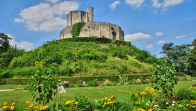 Historical castle of Gisors in Normandie Royalty Free Stock Image