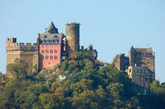 Historical Castle Schoenburg, Germany. Historical Castle Schoenburg at Rhine River in Oberwesel, Germany royalty free stock images