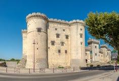 Historical Castle of Tarascon stock images