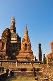 Historical castle in thailand. The historical castle in Ayudthaya, thailand stock photo