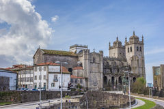 Historical cathedral in the center of Porto Royalty Free Stock Images