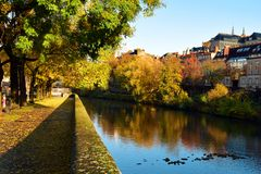 Historical town Metz in autumn. Royalty Free Stock Images