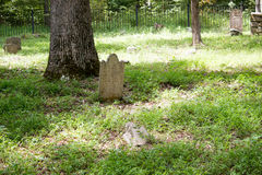 Historical cemetery tombstone Royalty Free Stock Photography