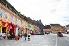 Historical center of Brasov city Stock Photos