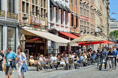 Historical center of Brussels Royalty Free Stock Images