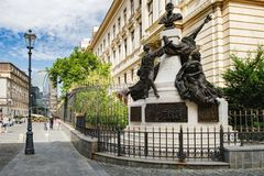Historical center in Bucharest, Romania stock photos
