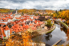 Historical center of Cesky Krumlov Stock Photography
