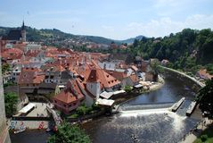 Historical Center of Cesky Krumlov, Czech Republic Royalty Free Stock Photography