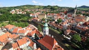 Historical center of Cesky Krumlov stock video