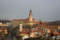 Historical Center of Cesky Krumlov , Czech Republic (Unesco Worl Stock Image