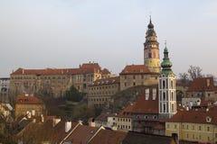 Historical Center of Cesky Krumlov , Czech Republic (Unesco Worl Royalty Free Stock Photos