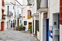 Historical center of city Cadaques Royalty Free Stock Images