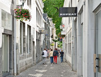 Historical center of the city. Maastricht Royalty Free Stock Photography
