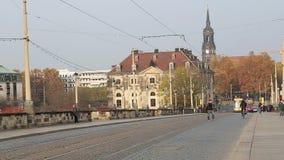 Historical center of Dresden (landmarks), Germany stock video footage