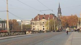 Historical center of Dresden (landmarks), Germany stock video